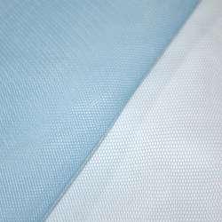 Фатін жорсткий дрібний яскраво-блакитний ш.150