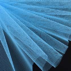 Фатін жорсткий блакитний ш.180