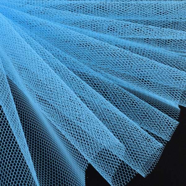 Фатин жесткий голубой ш.180