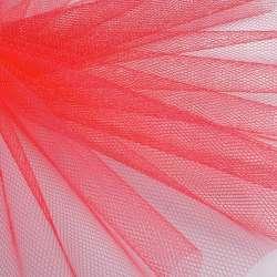 Фатин жесткий кораллово-алый ш.180
