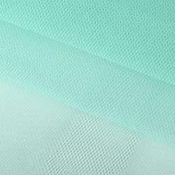 Фатин жесткий мятный светлый ш.150