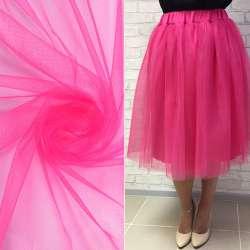 Фатин розовый яркий ш.160