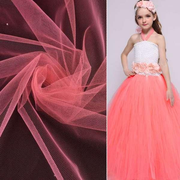 Фатин розово-персиковый ш.165