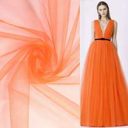 Фатин оранжево-красный ш.160
