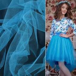 Фатин сине-голубой ш.165