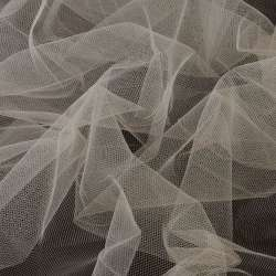 Фатин бежево-серый, ш.160