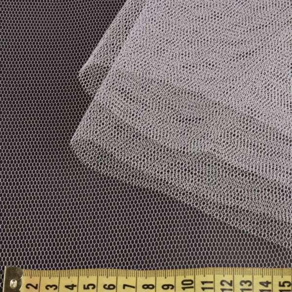 Фатин жесткий серый светлый ш.180