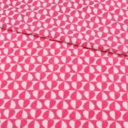 Фліс рожево-білі серця на шахматці ш.190