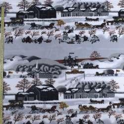 Фліс сірий зимовий місто, ш.160