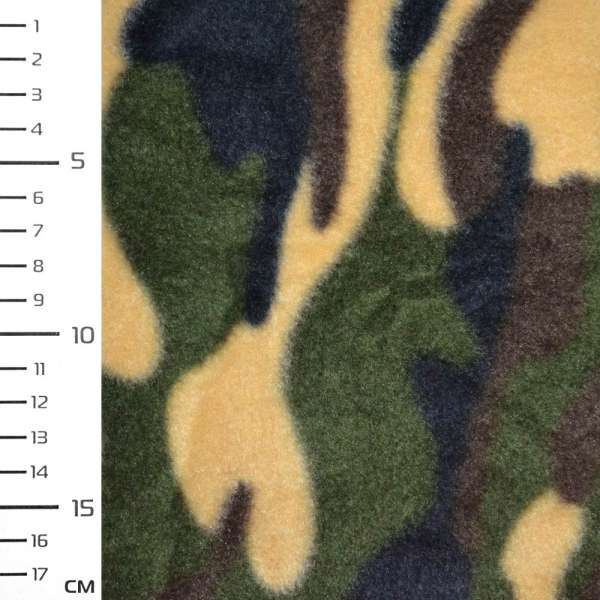Флис зелено желтый камуфляж ш.162