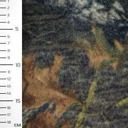 Флис коричнево-шоколадный с листьями ш.160