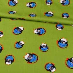 Коттон зелений, пінгвіни в навушниках, ш.148