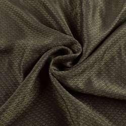 Віскоза підкладкова оливкова, жакардові трикутники, ш.145