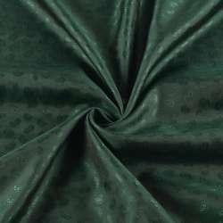 Віскоза підкладкова зелена темна в жакардові огірки, ш.140
