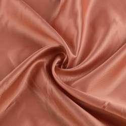 Віскоза підкладкова рожево-коричнева діагональ, ш.147