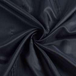 Віскоза підкладкова синя темна смужка, ш.145