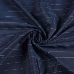 Віскоза підкладкова синя в білу смужку, ш.145