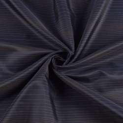 Віскоза підкладкова синя в тонку бежеву смужку, ш.145