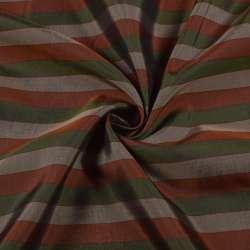 Віскоза підкладкова в бежеву, зелену, коричневу смужку, ш.142