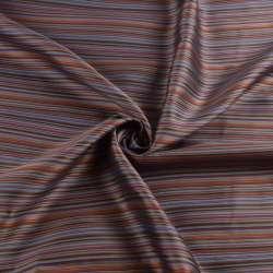 Віскоза підкладкова сіра в бордову, жовту, коричневу смужку, ш.143