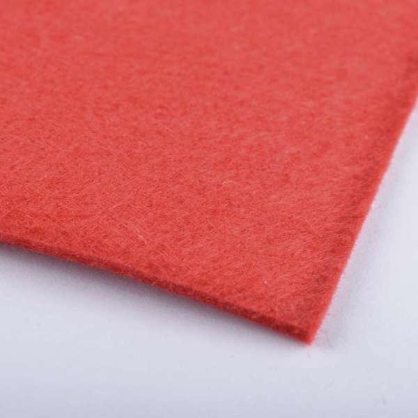 войлок (для рукоделия) ярко-красный (2мм) ш.100