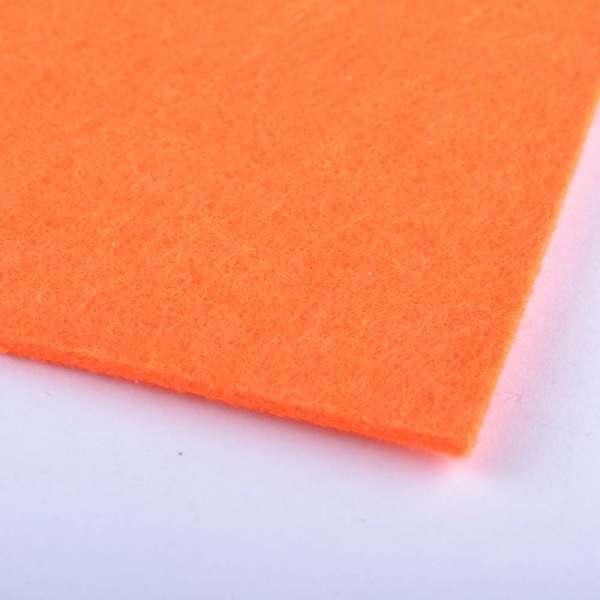повсть (для рукоділля) помаранчевий люмин. (2 мм) ш.100