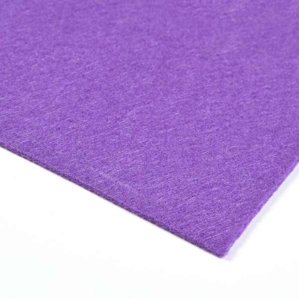 Войлок синтетический для рукоделия (0,9мм) фиолетовый ш.150