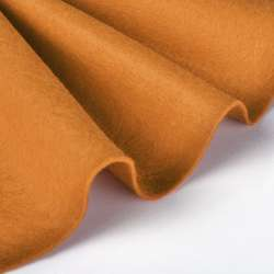 Войлок синтетический для рукоделия мягкий (2мм) рыжий, ш.85