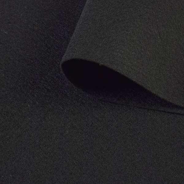 войлок (для рукоделия) черный (1,2мм) ш.150