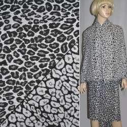 Гобелен чорно-білий леопард ш.150