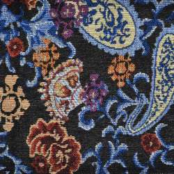 Гобелен чорний з бежево-блакитними огірками ш.150