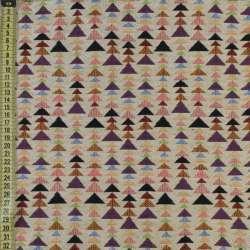 Гобелен бежевий в кольорові трикутники ш.150