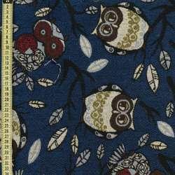 Гобелен сови на синьому тлі ш.150