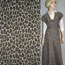 Гобелен бежево-чорний леопард ш.152