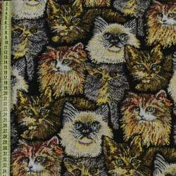 Гобелен кішки на чорному тлі ш.150