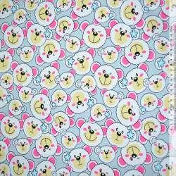 Тканина меблева св.-сіра з білими ведмедиками ш.150