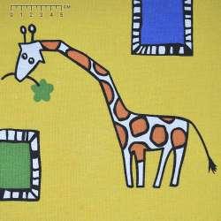 """тк. меблева жовта з """"жирафами"""" ш.150"""