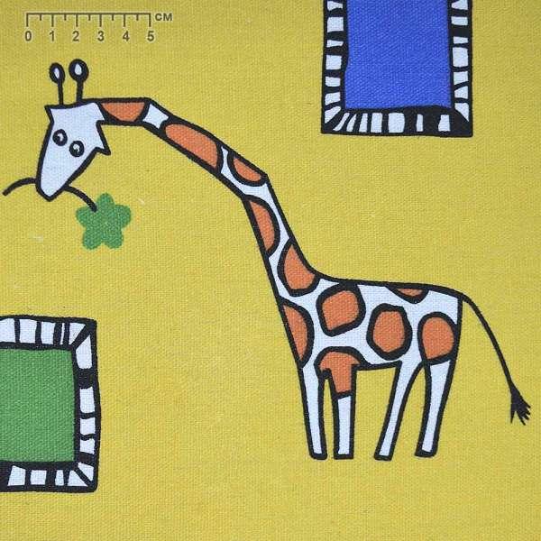 """тк. мебельная желтая с """"жирафами"""" ш.150"""