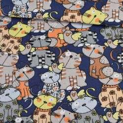 Деко-котон коти на синьому тлі, ш.150