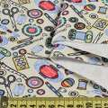 Деко-коттон все для шитья на молочном фоне, ш.150