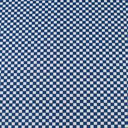 Деко-котон синьо-біла шахматка 6мм, ш.150