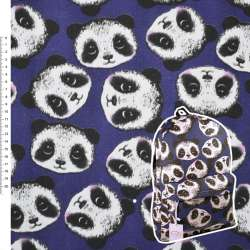 """Деко-котон синій """"Панда"""" ш.150"""