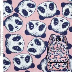"Деко-коттон розовый ""Панда"" ш.150"