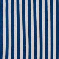 Деко-котон синьо-білі смужки ш.150