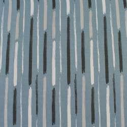Деко-котон сірий в білі, сірі широкі штрихи, ш.150