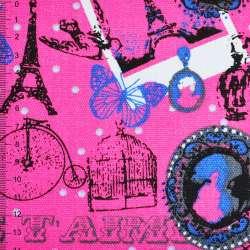 Деко-котон рожевий Париж ш.150