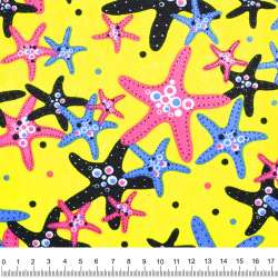 Деко-котон жовтий морські зірки ш.150