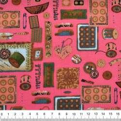 """Деко-котон рожевий """"рукодільниця"""" ш.150"""