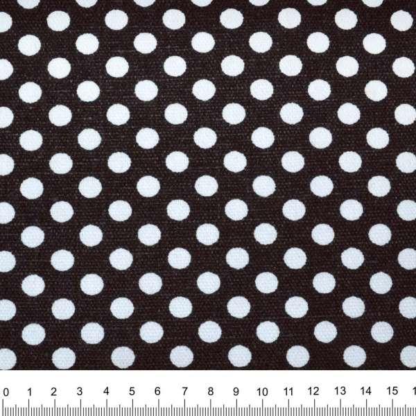 Деко-коттон черный в белый горох ш.150