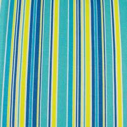 Деко-котон жовто-блакитні, синьо-білі смужки ш.150